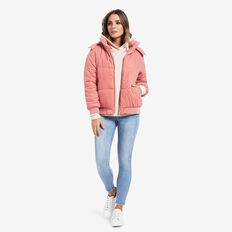 Velour Puffa Jacket  SOFT BLUSH  hi-res