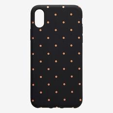 Metallic Spot Phone Case  BLACK/ ROSE GOLD  hi-res