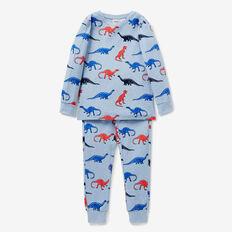 Dinosaur Yardage Pyjama  SLEEPY BLUE MARLE  hi-res