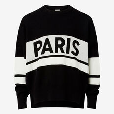 Slogan Sweater  BLACK  hi-res