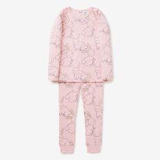 Sketchy Bunny Pyjama  ICE PINK MARLE  hi-res