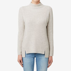 Neat Rib Sweater  TAUPE MARLE  hi-res