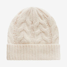 Cable Beanie  TAUPE MARLE  hi-res