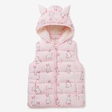 Bunny Puffa Vest  ICE PINK  hi-res