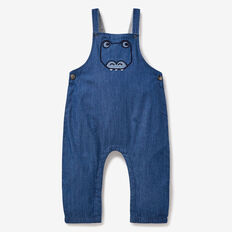 Dino Chambray Overalls  BLUE WASH  hi-res