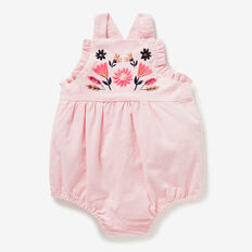 Embroidered Cord Romper  ICE PINK  hi-res
