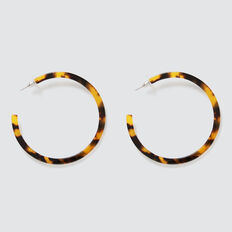 Tort Hoop Earrings  TORT  hi-res