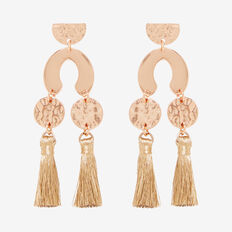 Abstract Tassel Earrings  ROSE GOLD  hi-res