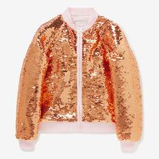 Sequin Bomber Jacket  ROSE GOLD  hi-res