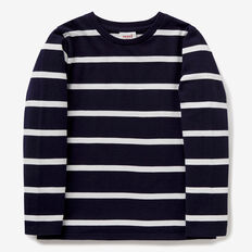 Stripe Rugby Tee  MIDNIGHT BLUE  hi-res