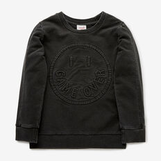 Game Over Panel Sweater  WASHED BLACK  hi-res