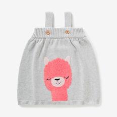 Llama Knit Pinafore  CLOUD  hi-res