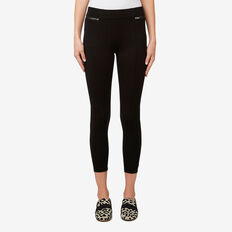Zip Detail Jegging  BLACK  hi-res