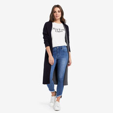 Asymmetric Hem Jean  DEEP BLUE DENIM  hi-res