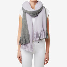Two Tone Fringe Scarf  WISTERIA/ GREY  hi-res