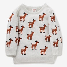 Deer Yardage Crew Knit  ICY MARLE  hi-res
