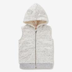 Sherpa Zip Vest Hoodie  VINTAGE SPACE DYE  hi-res