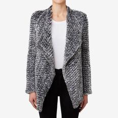 Faux Fur Jacket  LIGHT GREY MARLE  hi-res