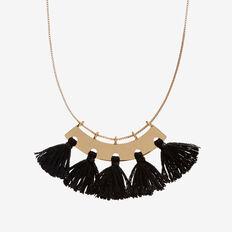 Tassel Plate Necklace  GOLD  hi-res