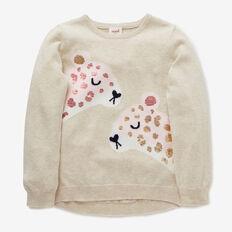 Sequin Leopard Sweater  OAT  hi-res