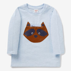 Racoon Zip Tee  PACIFIC BLUE MARLE  hi-res