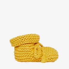 Knit Booties  MUSTARD  hi-res