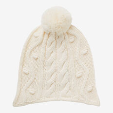 Cable Knit Beanie  NB CANVAS  hi-res