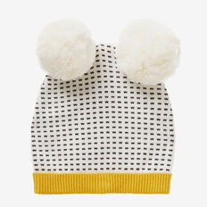 Geo Knit Pom Pom Beanie  NB CANVAS  hi-res