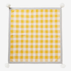 Gingham Knit Blanket  MUSTARD  hi-res