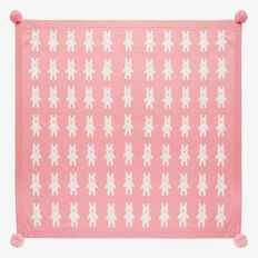 Bunny Yardage Knit Blanket  DUSTY PINK  hi-res
