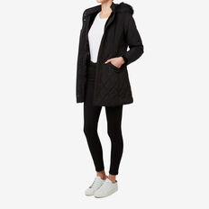 Quilted Puffa Jacket  BLACK  hi-res