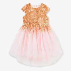 Tiered Sequin Dress  ROSE GOLD  hi-res