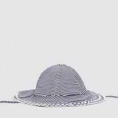 Seersucker Swim Hat  NAVY  hi-res