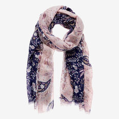 Winter Paisley Scarf  NAVY MULTI  hi-res