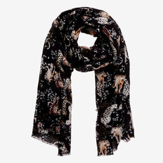 On The Prowl Scarf  BLACK MULTI  hi-res
