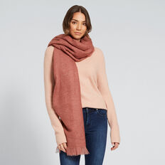 Simple Weave Scarf  DUSTY ROSE  hi-res