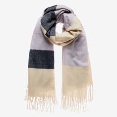 Colour Block Scarf  WISTERIA MULTI  hi-res
