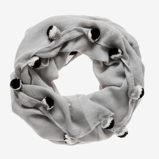 Pom Pom Snood  GREY  hi-res