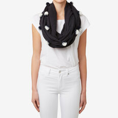 Pom Pom Snood  NAVY  hi-res