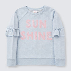 Sunshine Sequin Windcheater  BLUE MARLE  hi-res
