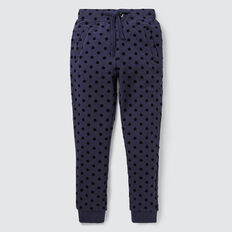 Flocked Spot Track Pant  NAVY  hi-res