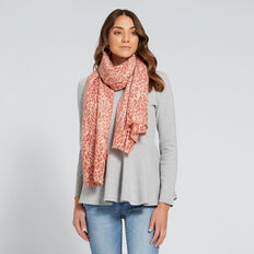 Two Tone Leopard Scarf  CLAY PINK  hi-res