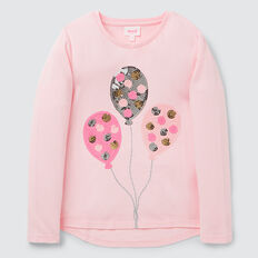 Sequin Balloon Tee  ICE PINK  hi-res