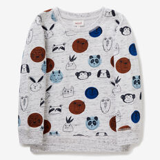 Animal Yardage Sweater  VINTAGE WHITE MARLE  hi-res