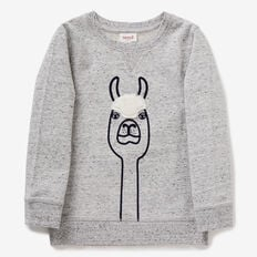 Llama Sweater  GREY SPECKLE MARLE  hi-res
