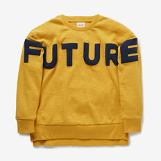 Future Past Sweater  DARKER MUSTARD  hi-res