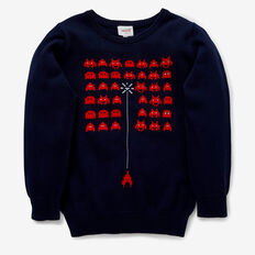 Pixel Crew Knit  MIDNIGHT BLUE  hi-res