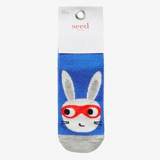 Super Rabbit Socks  BLUE  hi-res
