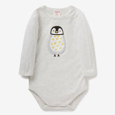 Penguin Applique Bodysuit  ICY MARLE  hi-res