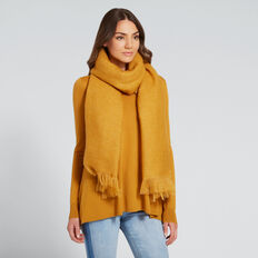 Simple Weave Scarf  MUSTARD GOLD  hi-res